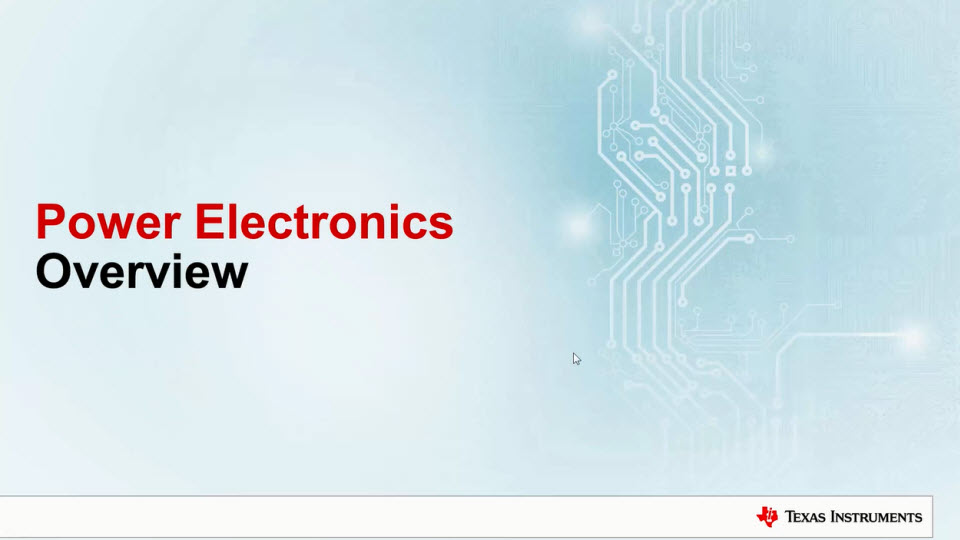 introduction to power electronics Non-linear elements, mainly electronic switches: semiconductors used in  as  mentioned in the introduction, a power converter processes the flow of energy.