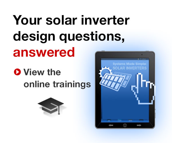 Solar inverter design training