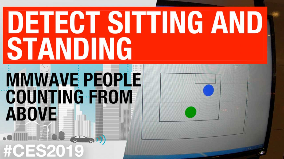 Detect sitting and standing: mmWave people counting from above