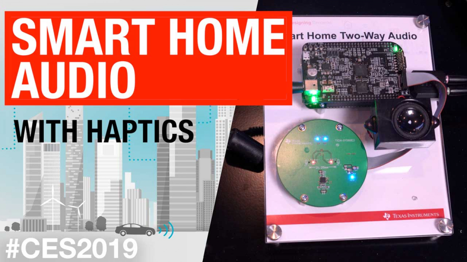 Smart home audio with haptics