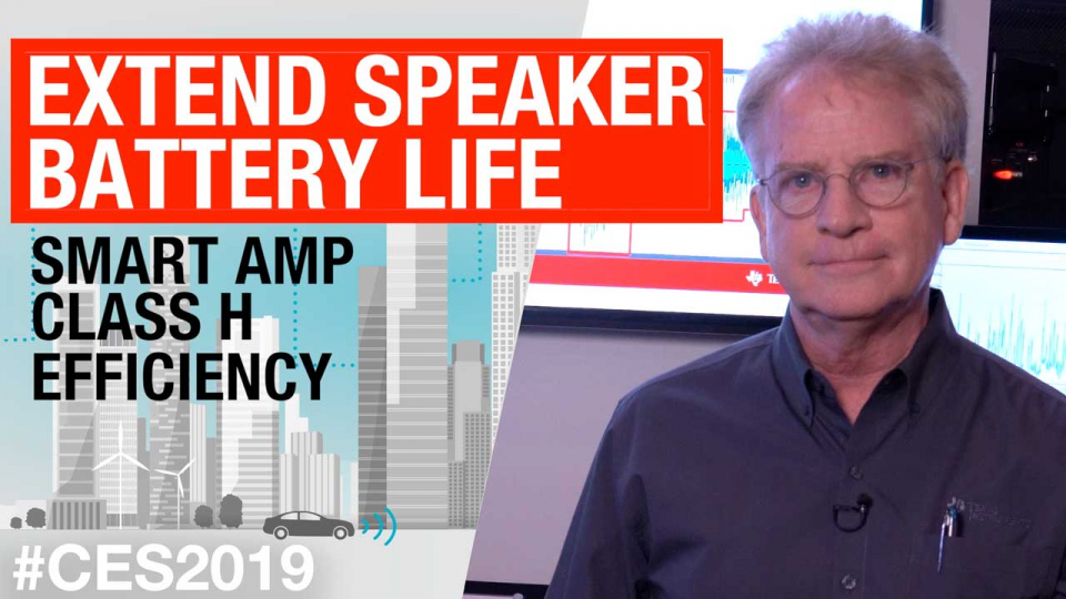 Extend speaker battery life: Smart amp class H efficiency