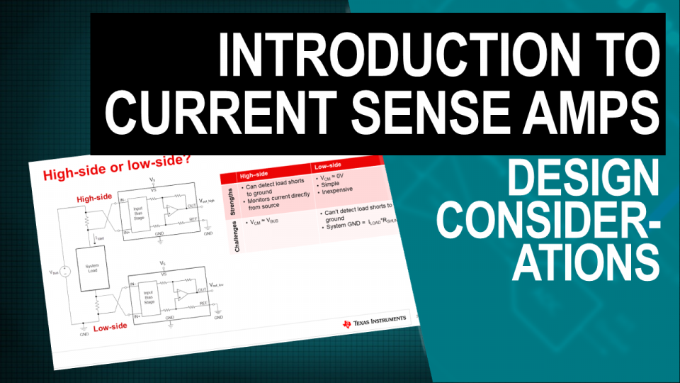 TI Precision Labs - Current Sense Amps: Design Considerations