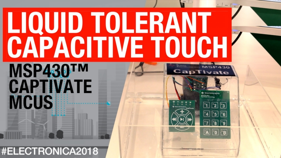 Liquid tolerant capacitive touch