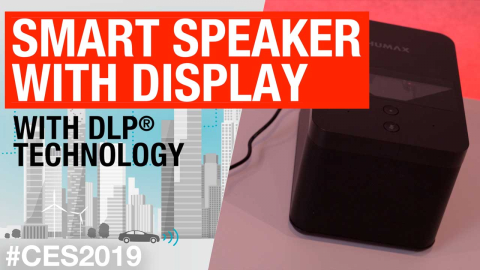Smart speaker with display with DLP® technology