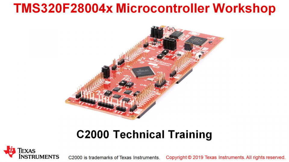 F280049C Microcontroller Workshop