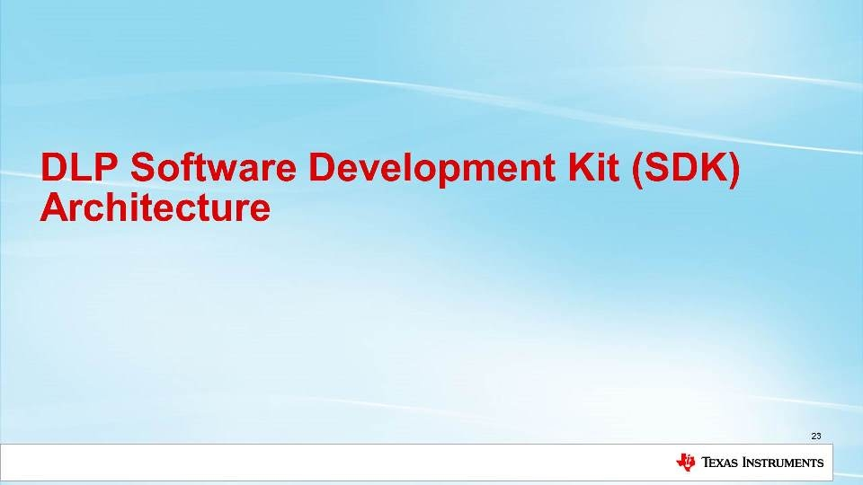Overview of DLP machine vision software development kit (SDK)