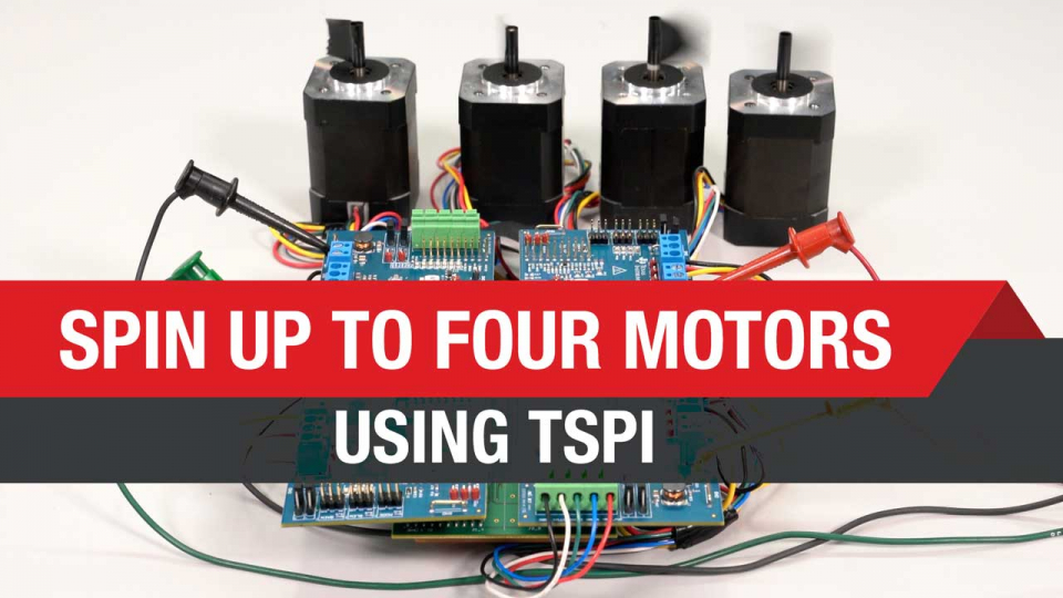Spin up to four motors using fewer wires