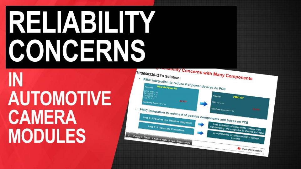 Reliability concerns in automotive camera modules