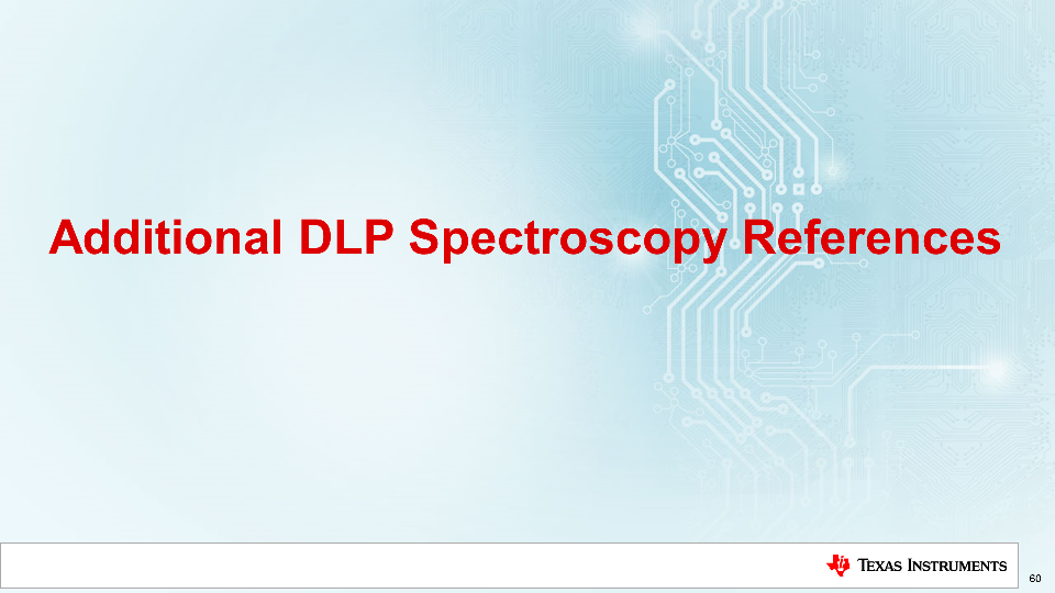 DLP technology spectroscopy references DLP Design Network reference designs