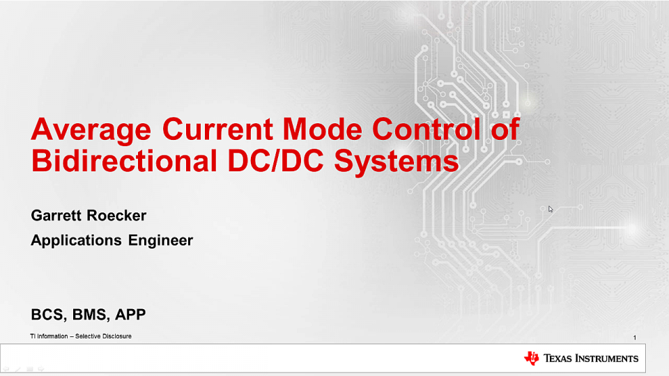 Average current mode control