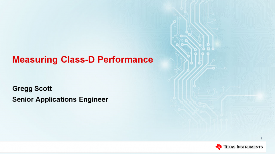 Class-D audio amplifier performance