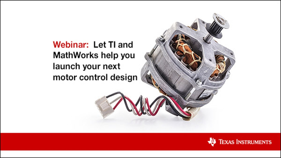 Learn how to launch your Motor Control Design