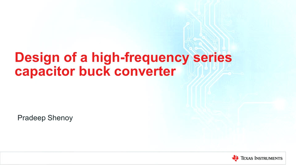 Design of a high-frequency series Capacitor buck converter