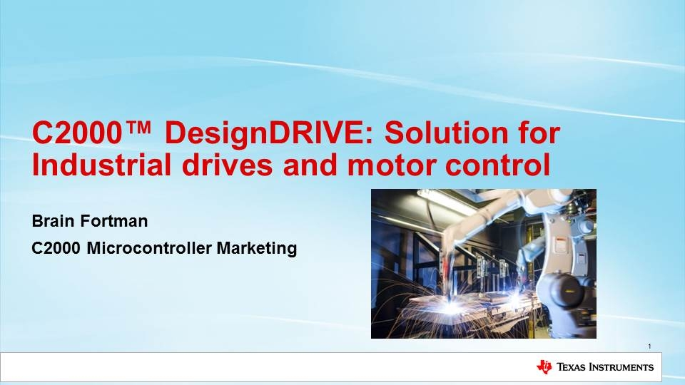 Solution for industrial drives and motor control