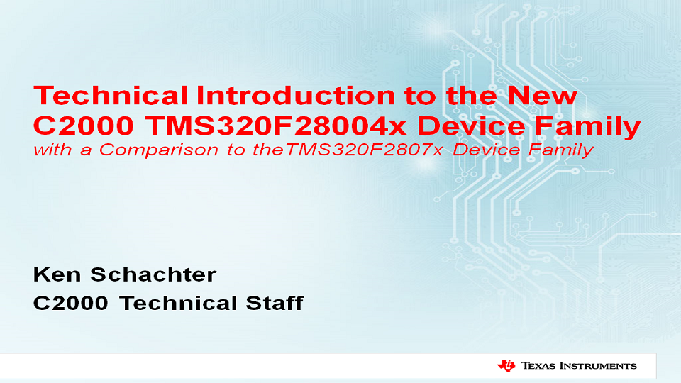 TMS320F28004x Technical Introduction