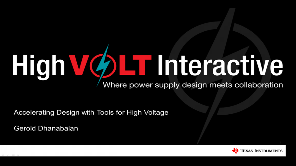 Accelerating Design with Tools for High Voltage