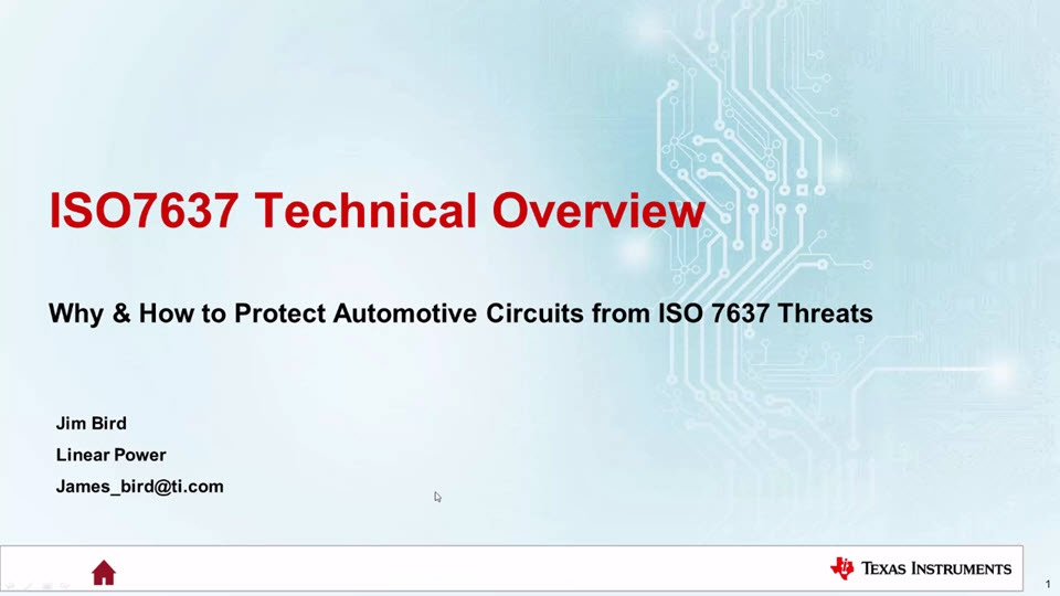 ISO 7637 Technical Overview