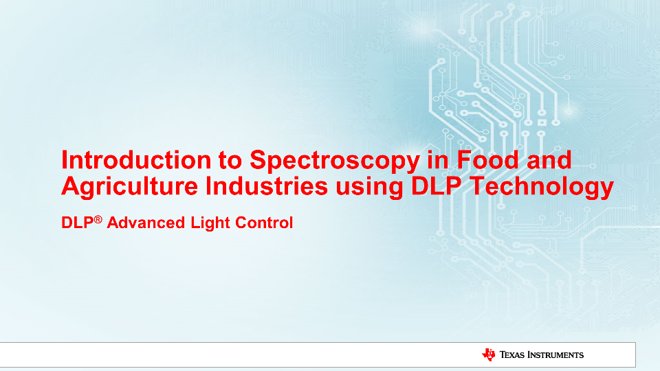 Spectroscopy Food Agriculture DLP Technology near-infrared spectrometer sampling
