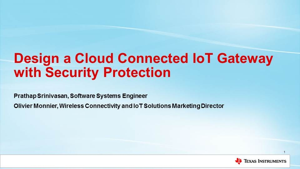 Design a Cloud Connected IoT Gateway with Security Protection