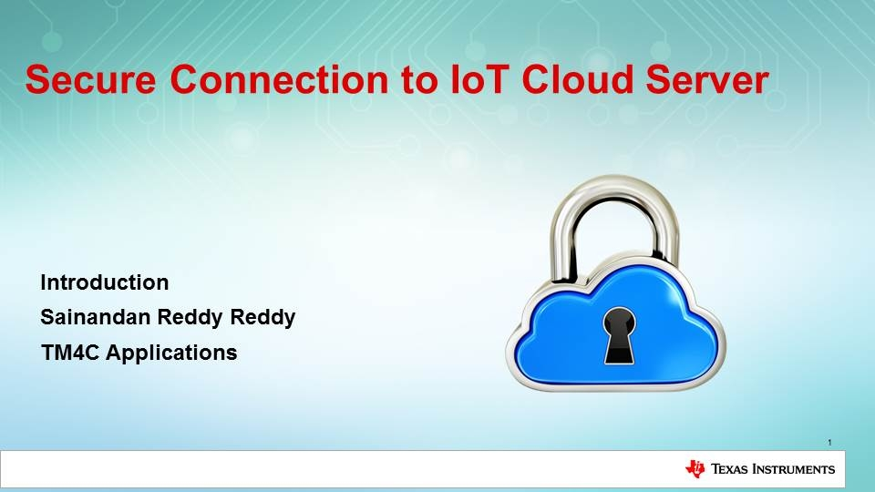 Secure Connection to IoT Cloud Server