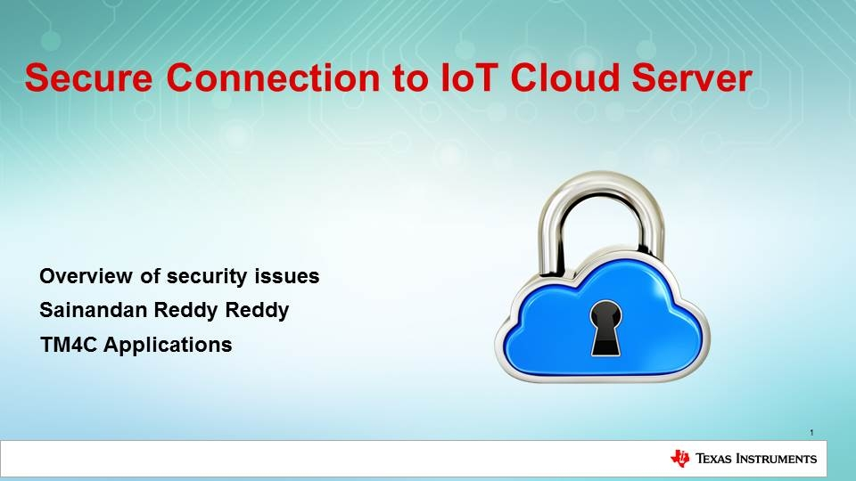 IoT Cloud Server Security Issues