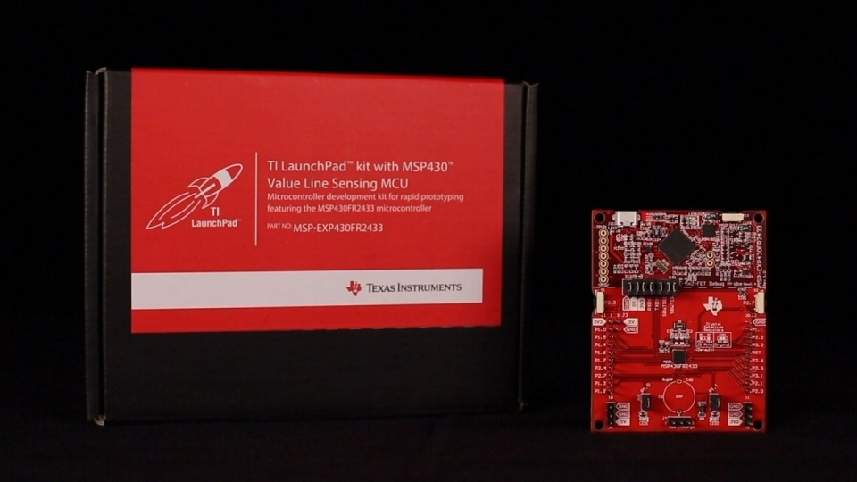 MSP-EXP430FR2433 – the MSP430FR2433 Microcontroller LaunchPad Development Kit
