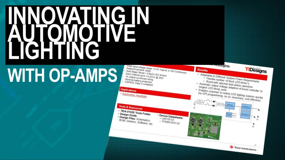 Innovating in Automotive Lighting with Op-Amps