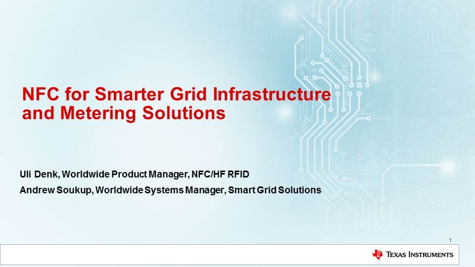 NFC and Grid Infrastructure