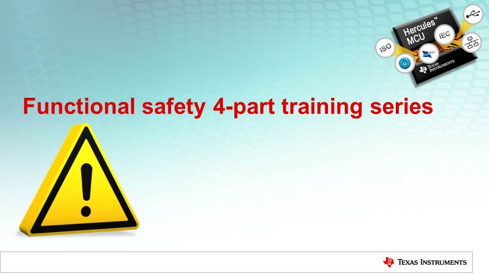 Functional safety 4-part training series