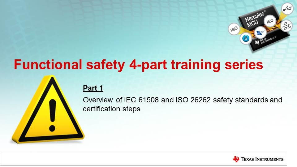 Overview of IEC 61508 and ISO 26262 safety standards and certification steps
