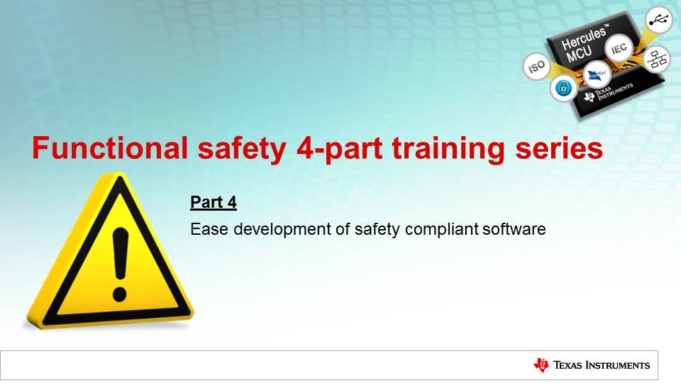Ease the development of safety compliant software