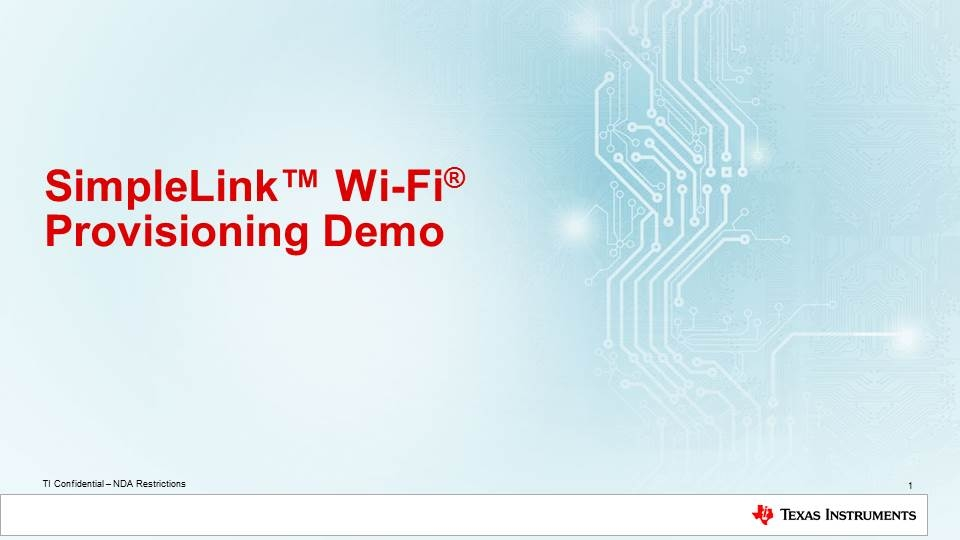 Learn to provision with SimpleLink WiFi CC3100/CC3200