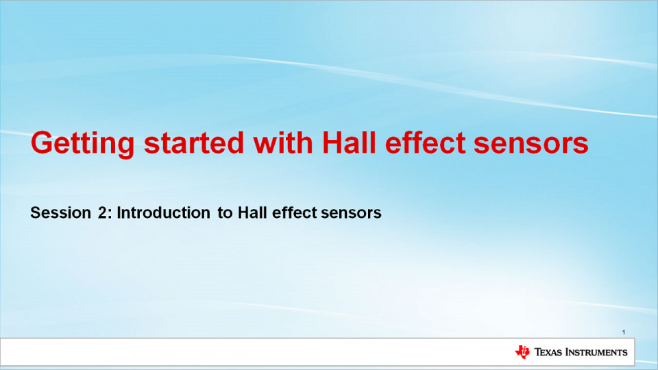 Introduction to Hall Effect Sensors