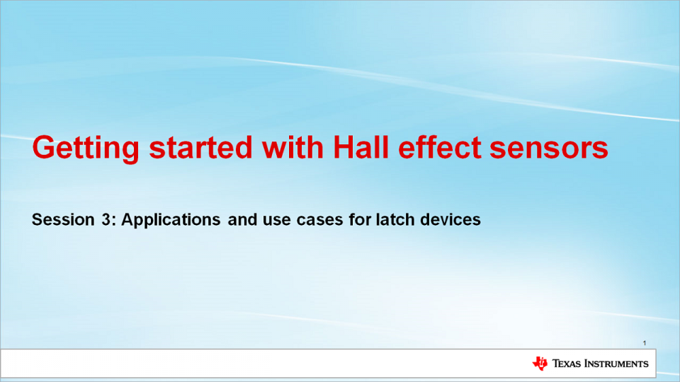 Applications for Hall Effect Latches