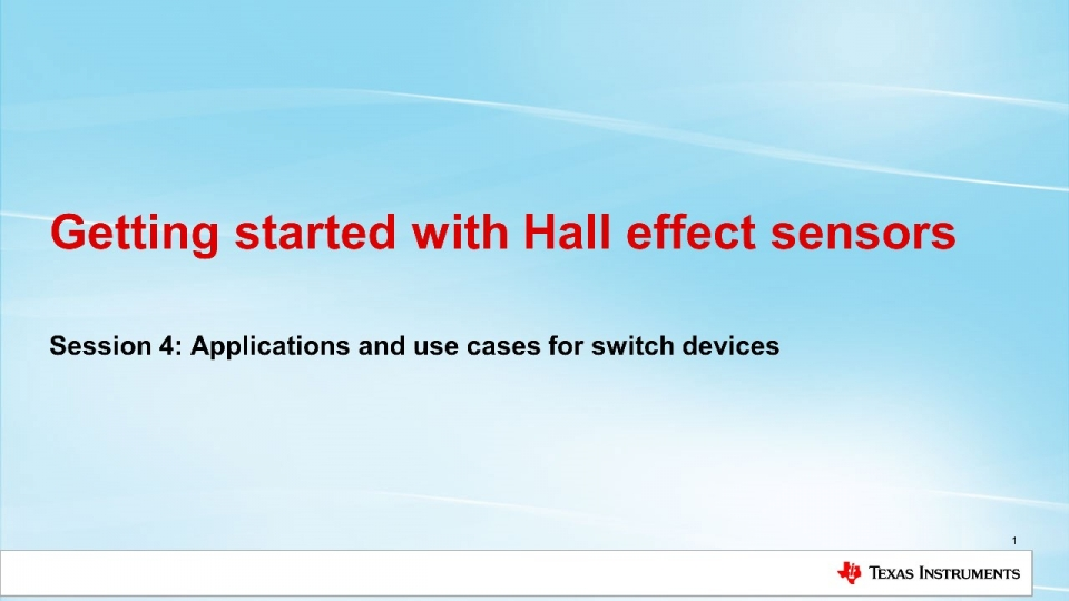 Applications for Hall Effect Switches