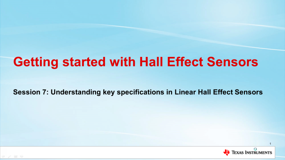 Key Specifications for Linear Hall Effect Sensors