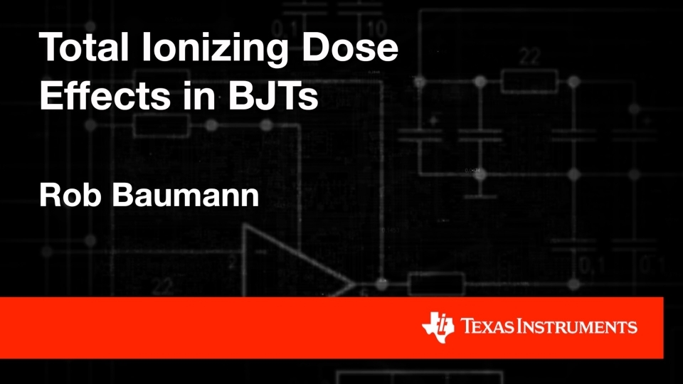 Understanding Total Ionizing Dose on BJTs