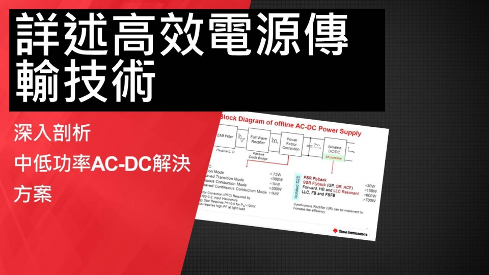 電源傳輸技術; AC-DC; power delivery