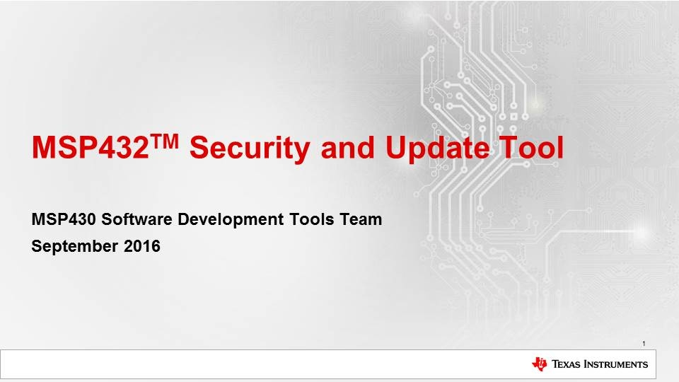 MSP432 Security and Update Tool