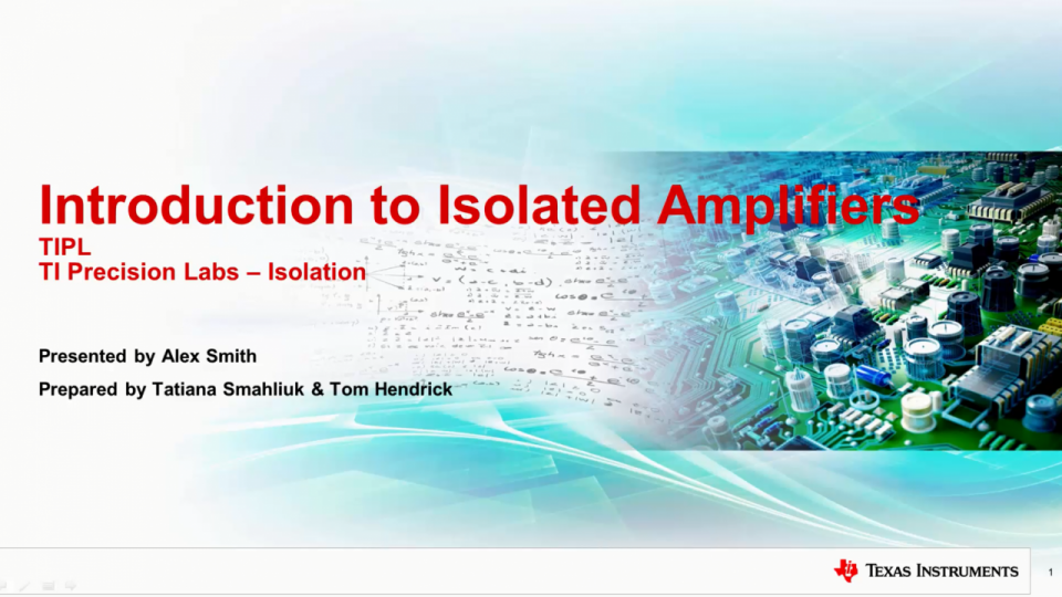 What is an isolated amplifier