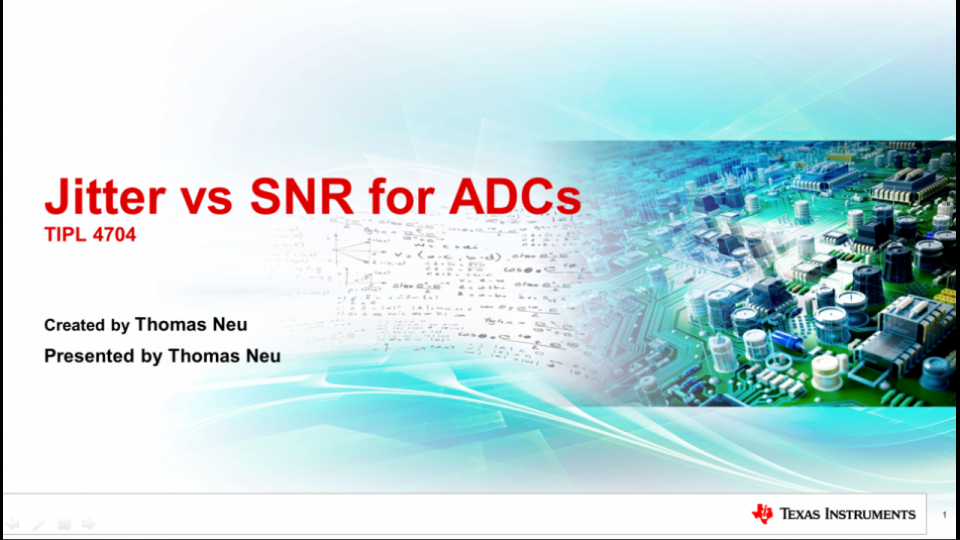 Jitter vs SNR for High Speed ADCs
