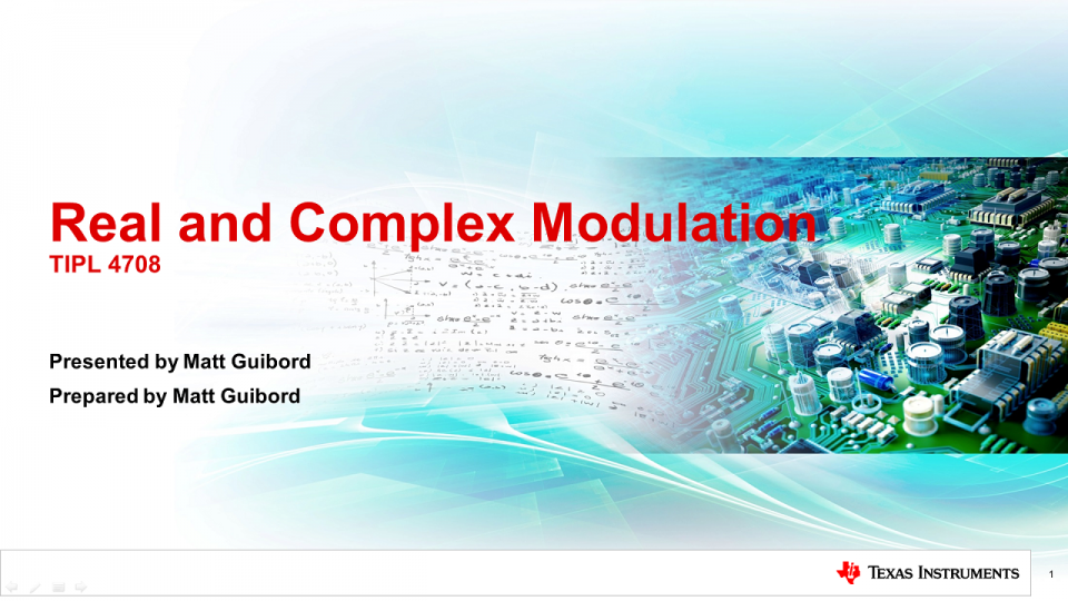 Real and Complex Modulation