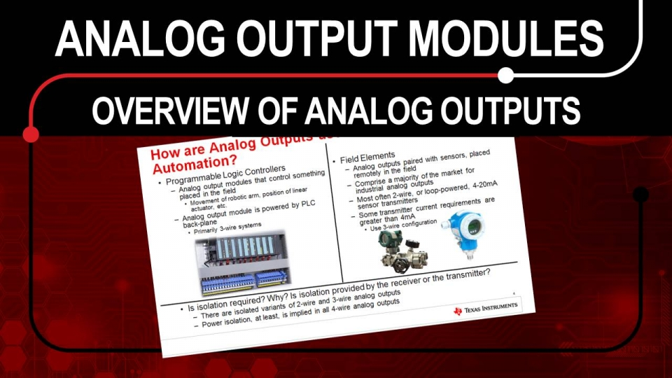 Overview of Analog Outputs