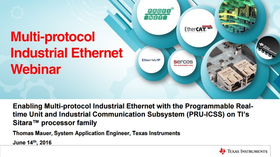 Industrial Ethernet with the PRU-ICSS Webinar