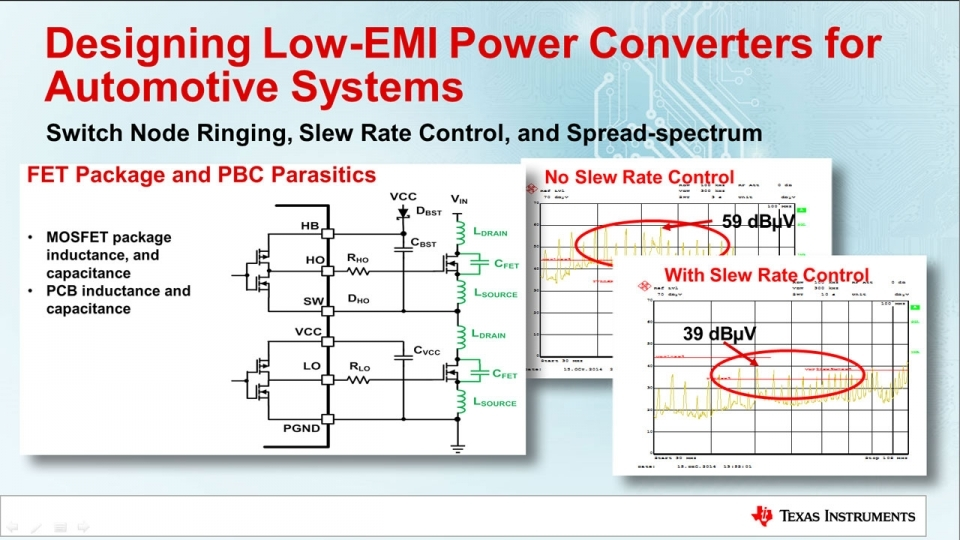 Leveraging Spread Spectrum and Slew Rate Control in Automotive DC/DC