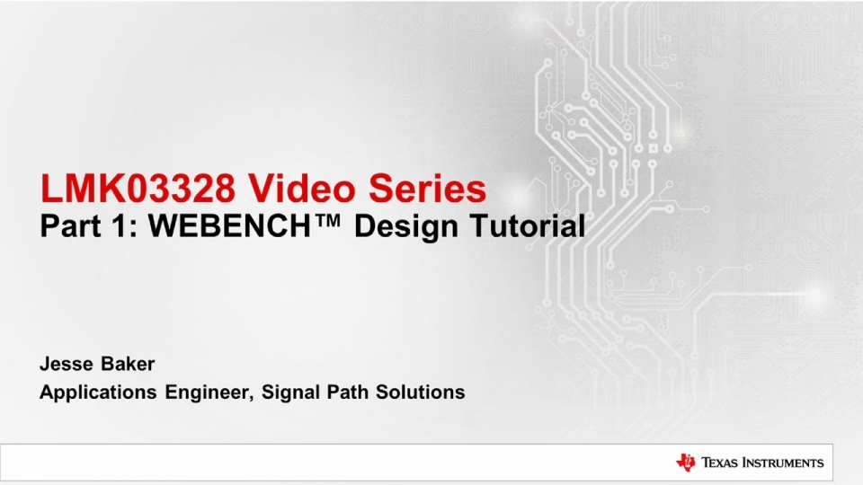WeBench Clock Architect