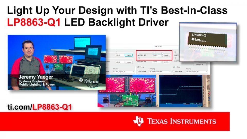 Controlling multiple automotive displays with reduced EMI using the LP8863-Q1 backlight LED driver