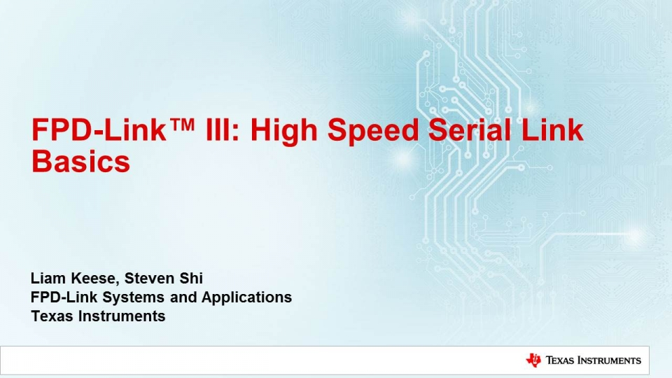 High Speed Serial Link Basics