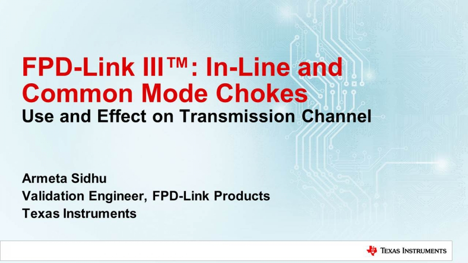 IIn-line and common mode chokes - use and effect on transmission channel