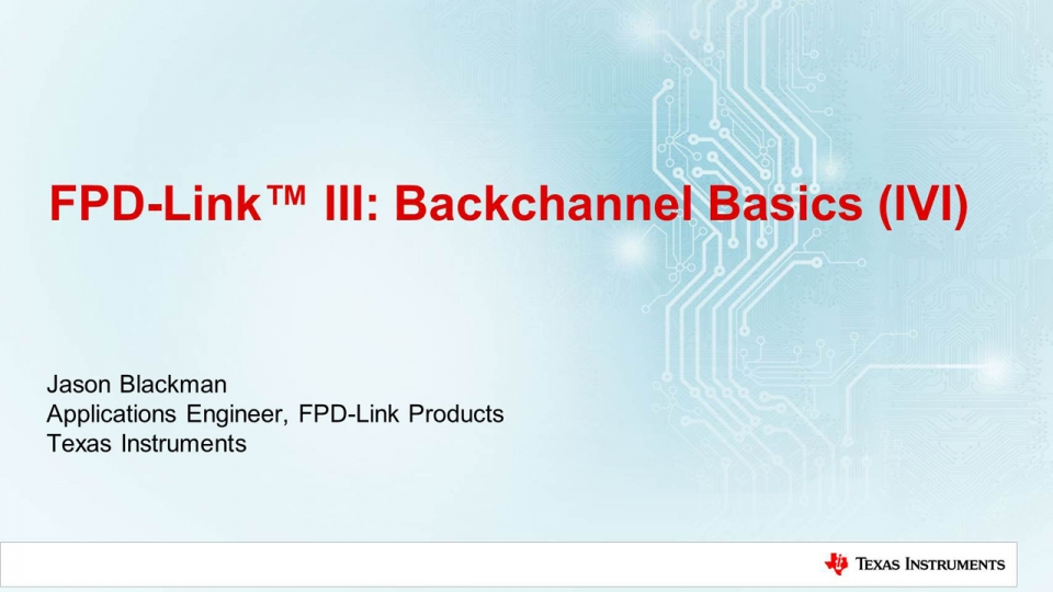 Infotainment (IVI) back channel basics